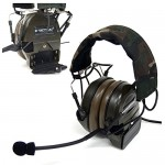 Z-Tactical Airsoft Comtac 1 2 Way Radio Headset Active Sound Protection