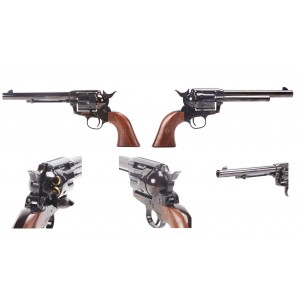 King Arms SAA .45 Peacemaker Revolver - Electroplating Black 6""