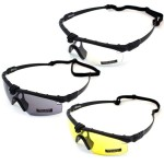 Nuprol Airsoft Battle Pro Safety Glasses Black Frame Various Colours