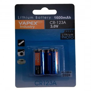 Vapex CR123A Lithium Battery Twin Pac