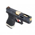 WE Custom G19 Pistol  (Black Slide and Gold Barrell)